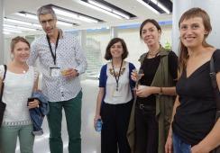 Anna Etchéverry (Hameka), Pedro Ormazabal (Ayto Bilbao), Cristina Igoa (CTP), Aurélie Pousset (Hameka)